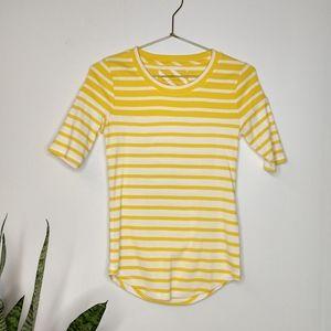 Banana Republic yellow striped t-shirt size XS